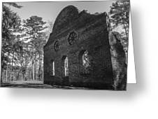 Pon Pon Chapel Of Ease 3 Bw Greeting Card by Steven  Taylor