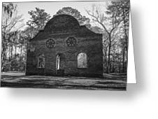 Pon Pon Chapel Of Ease 4 Bw Greeting Card by Steven  Taylor