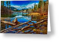 Pondering A Mountain Greeting Card by Omaste Witkowski