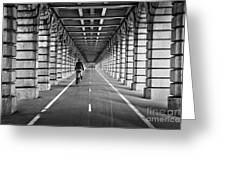 Pont De Bercy Greeting Card by Delphimages Photo Creations