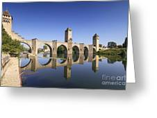 Pont Valentre Cahors France Greeting Card by Colin and Linda McKie