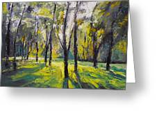 Pontefract Park At Sunset Greeting Card by Michael Creese