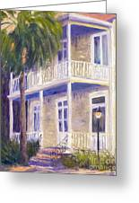Poogan's Porch Greeting Card by Patricia Huff