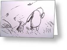 Pooh And Piglet Greeting Card by Jessica Sanders