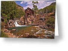 Pool Below The Mill Greeting Card by Adam Jewell