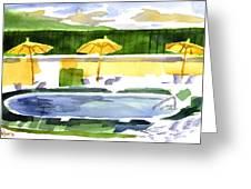 Poolside Greeting Card by Kip DeVore