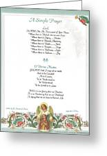 Pope Francis St. Francis Simple Prayer Florentine Angel Greeting Card by Desiderata Gallery