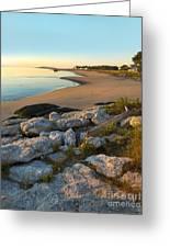 Popham Beach At Dawn Greeting Card by Jim Block