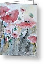 Poppies 01 Greeting Card by Ismeta Gruenwald