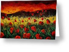 Poppies 68 Greeting Card by Pol Ledent
