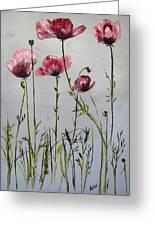 Poppies Greeting Card by Arlen Avernian Thorensen