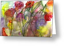 Poppies In The Sun Greeting Card by Claudia Smaletz