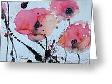 Poppies- Painting Greeting Card by Ismeta Gruenwald
