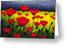 Poppy Corner IIi Greeting Card by John  Nolan