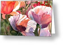 Poppy Madness Greeting Card by Kris Parins