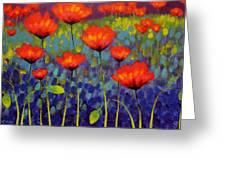 Poppy Meadow   Cropped 2 Greeting Card by John  Nolan
