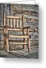 Porch Chair Greeting Card by Heather Applegate