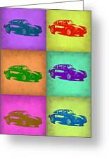 Porsche 911 Pop Art 2 Greeting Card by Naxart Studio