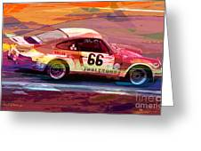 Porsche 911 Racing Greeting Card by David Lloyd Glover