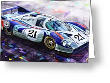 Porsche 917 Lh Larrousse Elford 24 Le Mans 1971 Greeting Card by Yuriy  Shevchuk