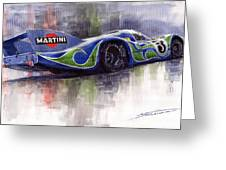 Porsche 917 Psychodelic  Greeting Card by Yuriy Shevchuk