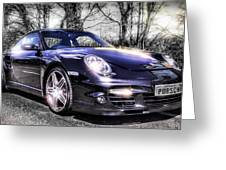 Porsche Greeting Card by Ian Hufton
