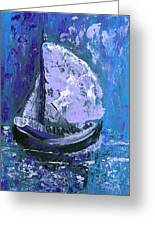 Port In The Storm Greeting Card by Donna Blackhall