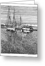 Port Orchard Reflections Greeting Card by Jack Pumphrey
