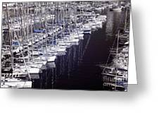 Port Parking Greeting Card by John Rizzuto