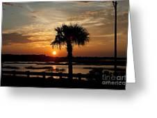 Port Royal Sunset Greeting Card by Scott Hansen