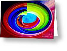 Portal In Space Abstract Art Greeting Card by Annie Zeno