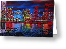 Portland City Lights 33 Greeting Card by James Dunbar