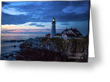 Portland Head Lighthouse Greeting Card by Diane Diederich