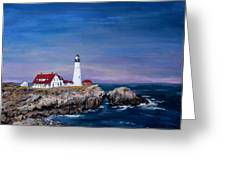 Portland Head Lighthouse Greeting Card by Jack Skinner