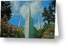 Portland Oregon Lds Temple Greeting Card by Nick  Boren