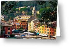 Portofino Greeting Card by Carl Jackson
