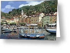 Portofino Greeting Card by Guido Borelli