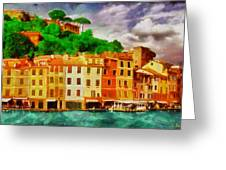 Portofino I Greeting Card by George Rossidis