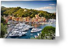 Portofino Summer Afternoon Greeting Card by George Oze