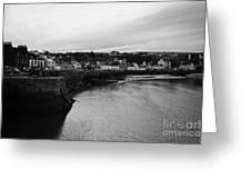 Portpatrick Village And Breakwater Scotland Uk Greeting Card by Joe Fox
