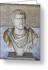 Portrait Bust Of The Emperor Antoninus Plus Greeting Card by Radoslav Nedelchev