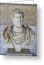 Portrait Bust Of The Emperor Antoninus Plus Greeting Card by Radoslav Nedelchev