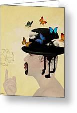 Portrait Hat Greeting Card by Mark Ashkenazi
