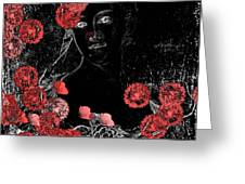 Portrait In Black - S0201b Greeting Card by Variance Collections