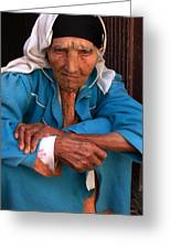 Portrait Of A Berber Woman Greeting Card by Ralph A  Ledergerber-Photography