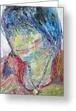 Portrait Of A Boy - Marcus Greeting Card by Fabrizio Cassetta