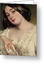 Portrait Of A Lady Greeting Card by Franz Xaver Winterhalter