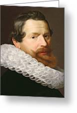 Portrait Of A Man Wearing A Ruff Greeting Card by Dutch School