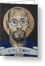 Portrait Of A Saint Greeting Card by Sharon Norwood