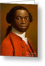 Portrait Of An African Greeting Card by Allan Ramsay